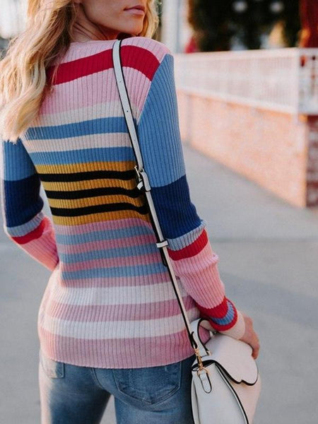 Retro Lines Knit Top