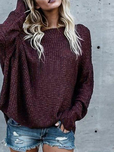 Oversize Off Shoulder Sweater