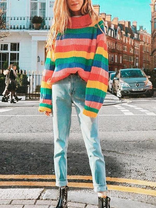 Retro Bubblegum Knitted Sweater