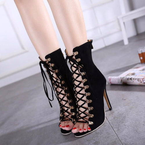 Peep Toe Gladiator High Heels