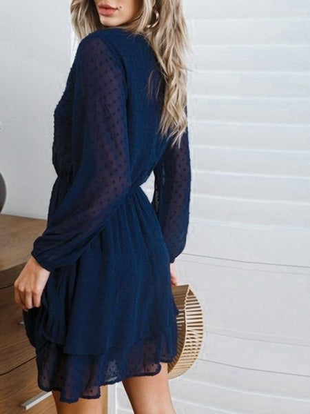 Navy Burnout Dress