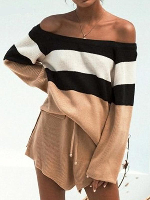 Off Shoulder Meek Sweater