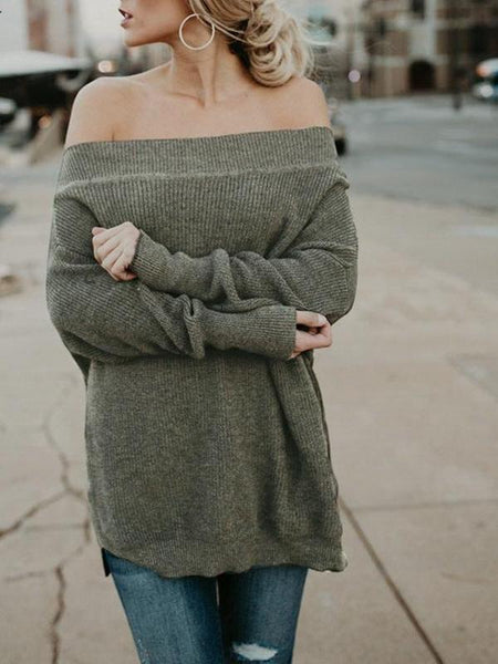 Off Shoulder Oversize Sweater