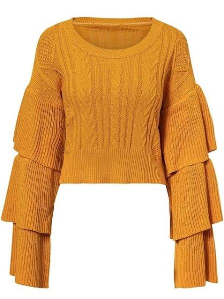 Pagoda Crop Sweater