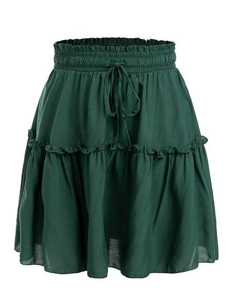 Mini Ruffle Flare Skirt