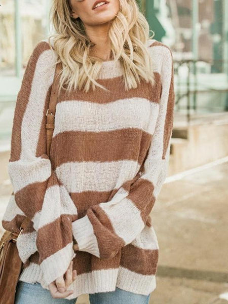Thick Stripe Oversize Sweater