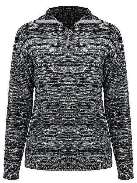 Granite Turtleneck Knit Sweater