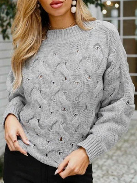 Lattice Knitted Sweater