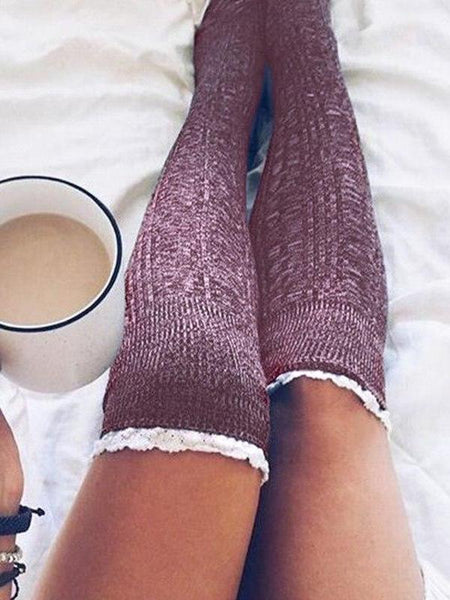 Lace Frill High Socks
