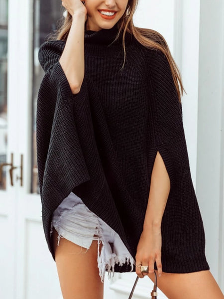 Knitted Cape Sweater
