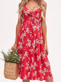 Knotty Floral Button Dress