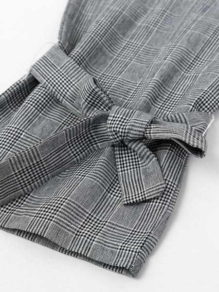 Glen Plaid Bow Trousers