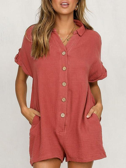 Button Up Shirt Playsuit