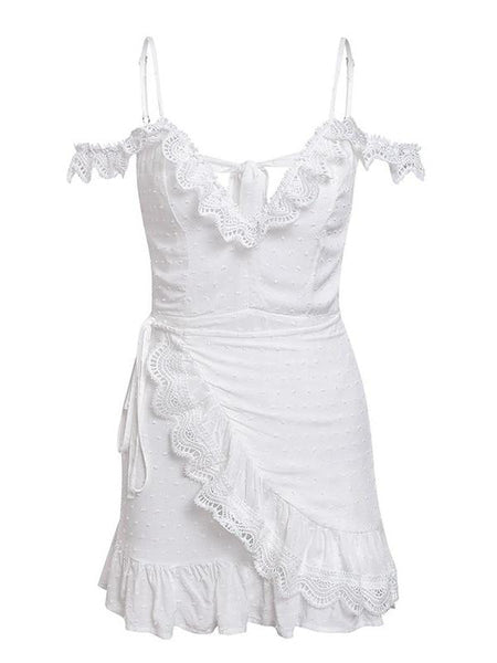Lace Ruffles Maiden  Dress