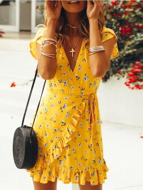 Canary Flair Mini Dress