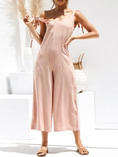 Drop Back Loose Jumpsuit