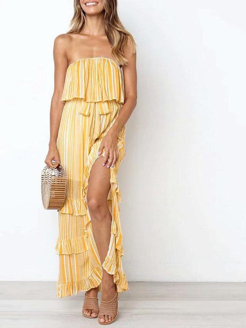 Butter Stripe Maxi Dress