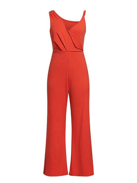 Retro Asymmetrical Flare Jumpsuit