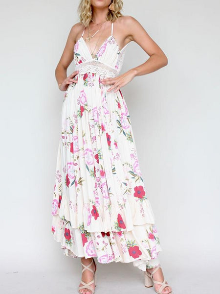 Pink Blossom Maxi Dress