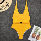 Belted Ribbed Monokini