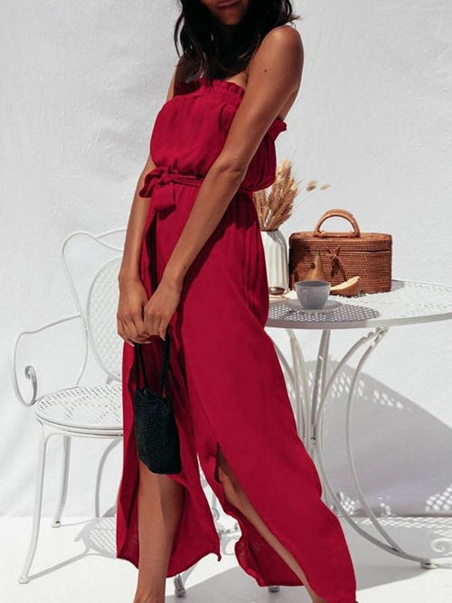 Sangria Split Jumpsuit