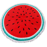 Watermelon Round Beach Towel With Tassel