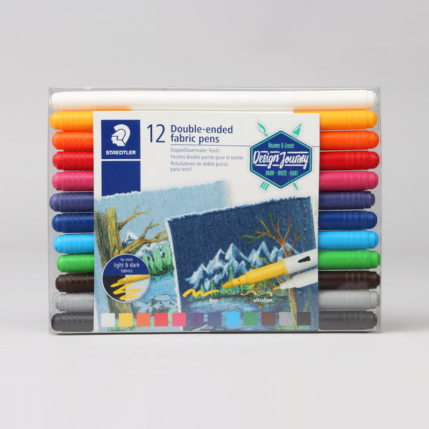 Staedtler 12 Double-Ended Fabric Pens Art. Nr. 3190 TB12