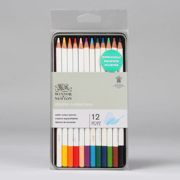 Winsor & Newton Studio Collection Water Colour Pencils 12 pc 0490016