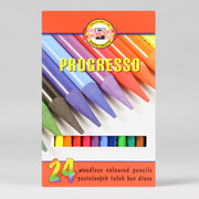 Koh-I-Noor Hardtmuth 24 Progresso Woodless Coloured Pencils 8758