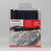 Snowman Drawing Pigment Pen Item no. FT700 Black (Set of 10)