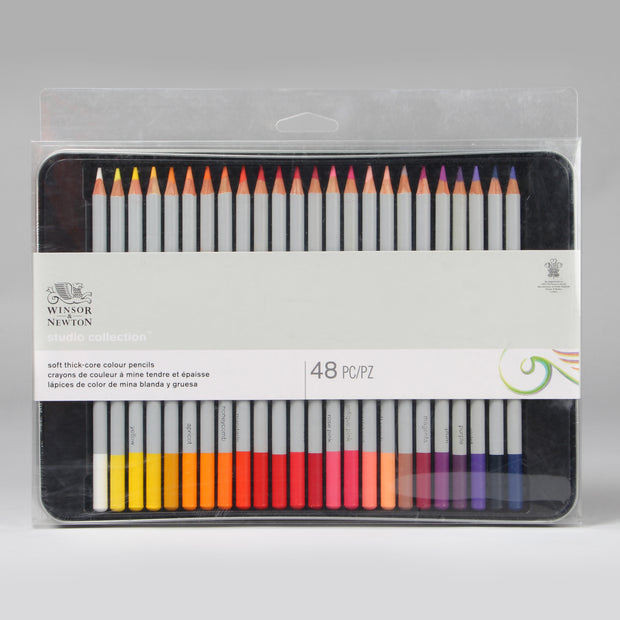 Winsor & Newton Studio Collection Soft Thick-Core Colour Pencils 48 pc 0490014