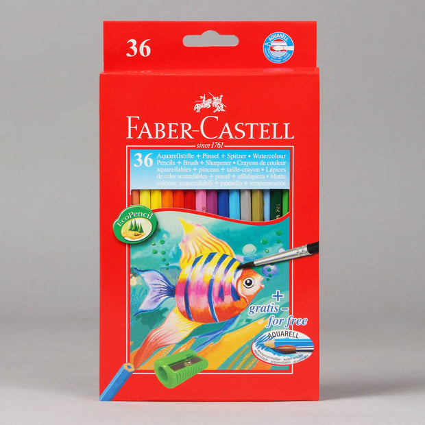 Faber-Castell 36 Watercolour Pencils Aquarell (EcoPencil) 11 44 37 - Anupam