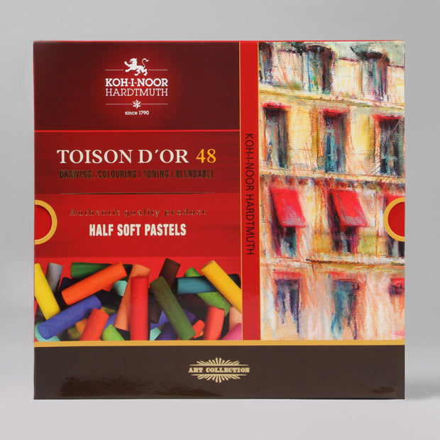 Koh-I-Noor Hardtmuth Toison D'or 48 Artists' Half Soft Pastels Set 8546048001KS