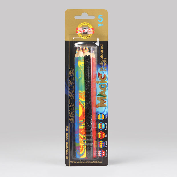 Koh-I-Noor Hardtmuth Magic Multicoloured Pencils Set (5 Pcs.) 3406005001BL
