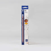 Staedtler 10 Natural Graphite Pencils Extra Dark 2B Art. Nr. 132 40N C10