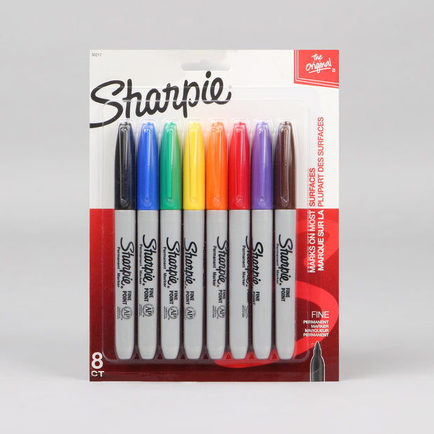 Sharpie 8 Assorted Fine Point Permanent Markers 30217