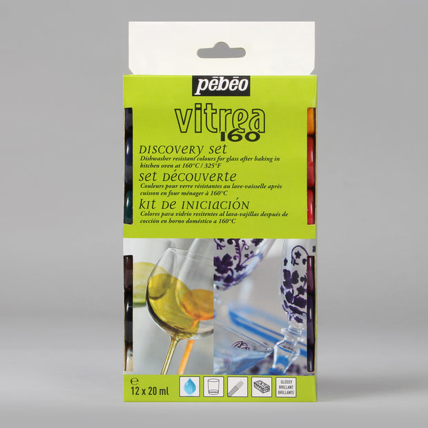 Pebeo Vitrea 160 Discovery Set 12 Bottles x 20 ml 754404