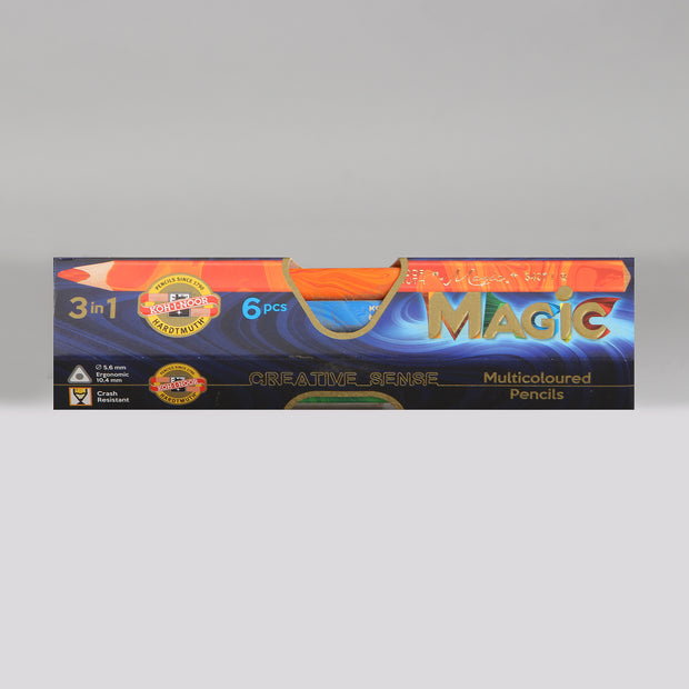 Koh-I-Noor Hardtmuth Magic Multicoloured Pencils Set (6 Pcs.) 3408