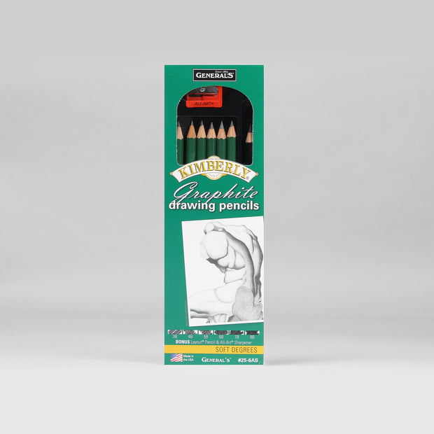 General's Kimberly Graphite Drawing Pencils Set 25-6AS
