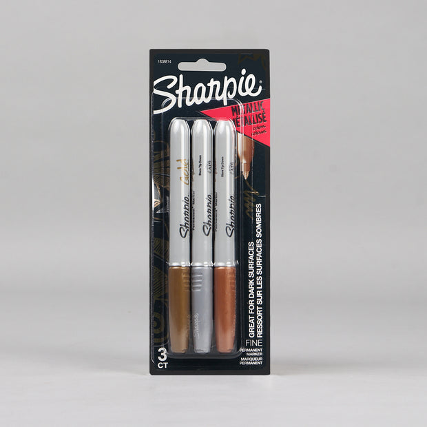 Sharpie 3 Assorted Metallic Fine Point Permanent Markers 1833814