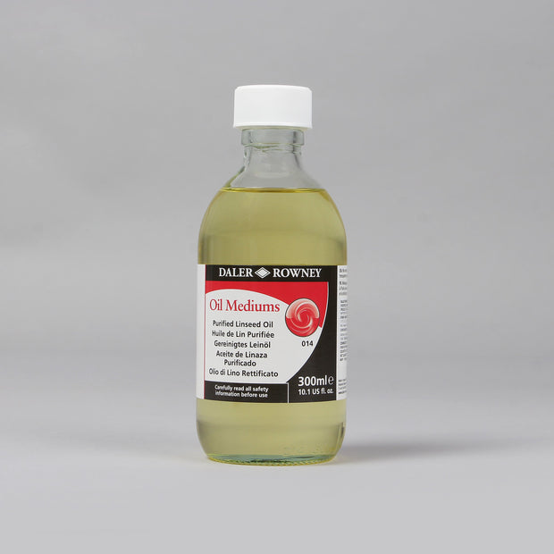 Daler Rowney Oil Mediums Purified Linseed Oil 300 ml 114 030 014 - Anupam