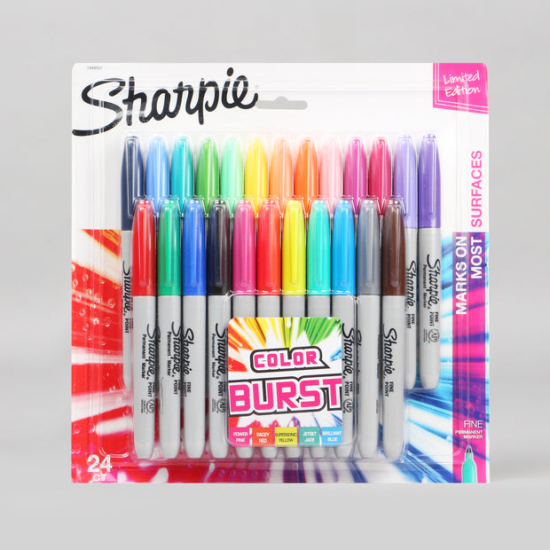Sharpie 24 Assorted Fine Point Permanent Markers 1949557