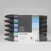 Winsor & Newton Promarker Skyscapes Tones 1 6 pc 0290118