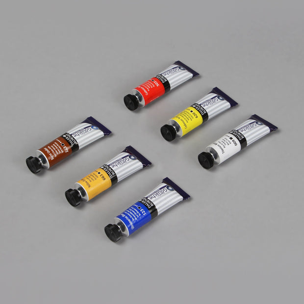 Daler Rowney Aquafine Gouache Opaque Watercolour Starter Set (6 Shades) 15 ml 136 901 004 - Anupam