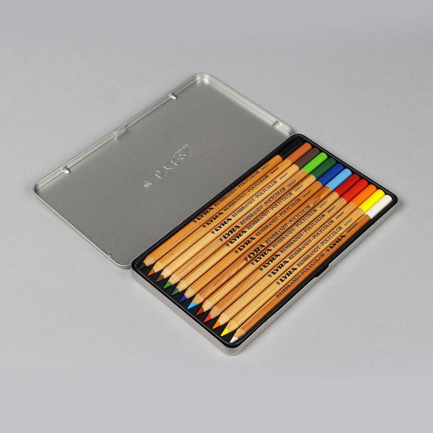 Lyra Rembrandt 12 Coloured Polycolor Pencils For Artists 4 mm 2001120 - Anupam