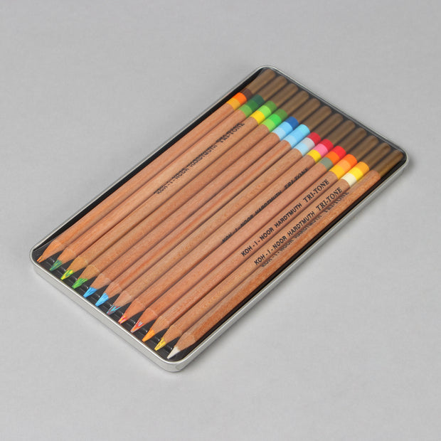 Koh-I-Noor Hardtmuth 11+1 Tri-Tone Multicoloured Pencils Set 3442N12003PL