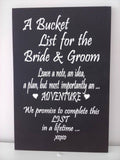 Bucket List for the Bride & Groom