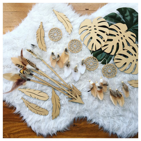 Leaf/Arrows/Mini Dreamcatcher/Feathers
