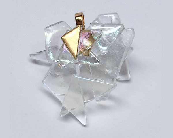 The Glass Ceiling Pendant with Gold Trim