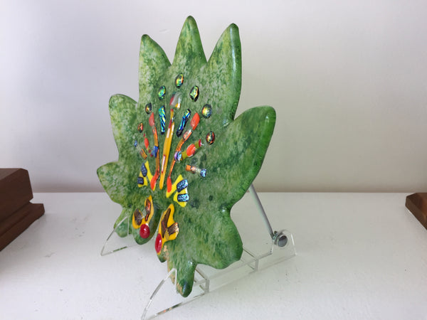 Fused Glass Fine Art - Changing Seasons Collection - LEAF ONE